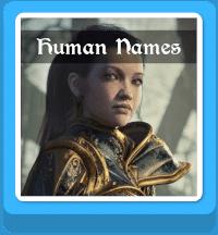 fantasy human names generator button