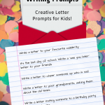 Letter Writing Prompts for kids