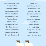 Pirate Name generator =- pirate names list