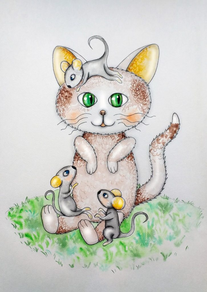 writing prompts for kids - cat and mice