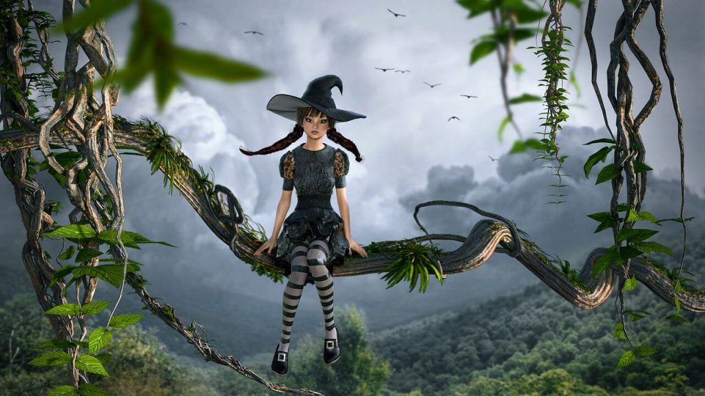 writing prompts for kids - witch in jungle