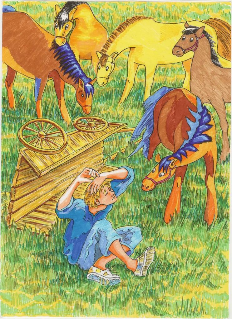 writing prompts for kids - boy and horses