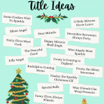 Christmas book title ideas
