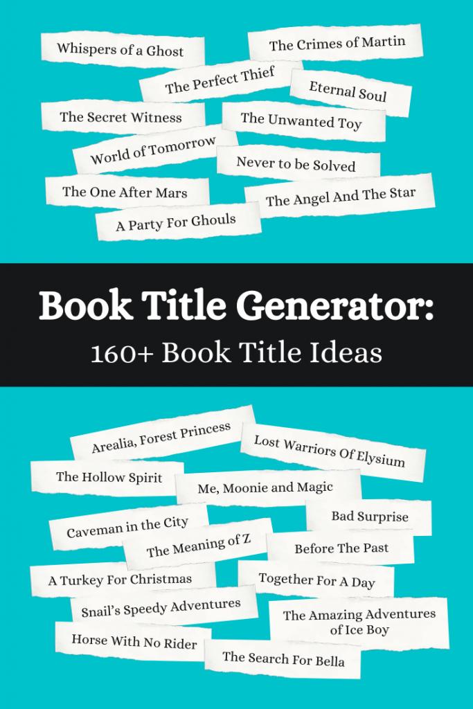 book title generator- random book title ideas