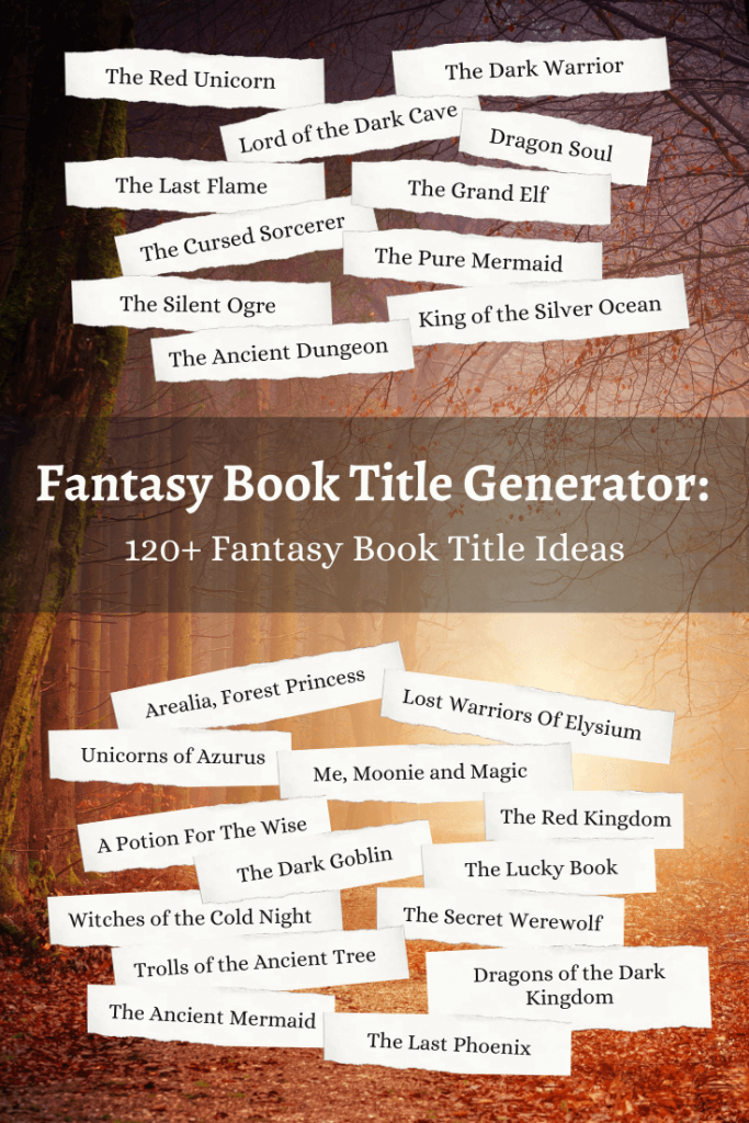 Fantasy Book Title Ideas with generator