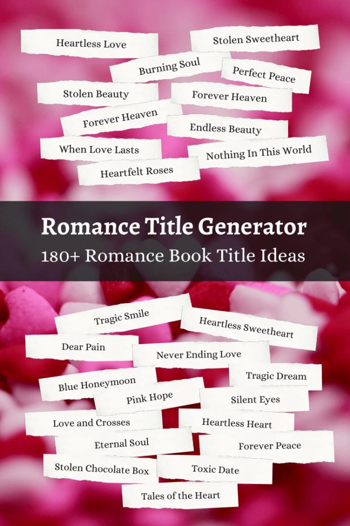 Romance Book Title Ideas