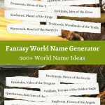 Fantasy world Name Ideas