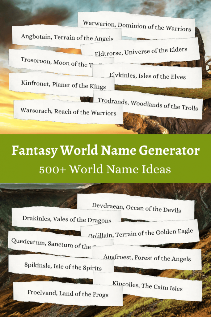 Fantasy world Name Ideas