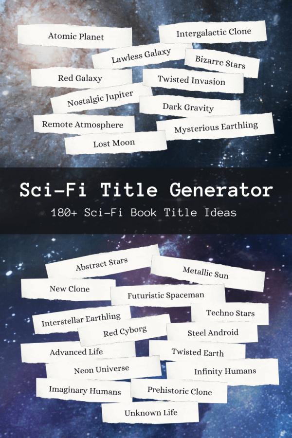 Sci-Fi Book Title Generator
