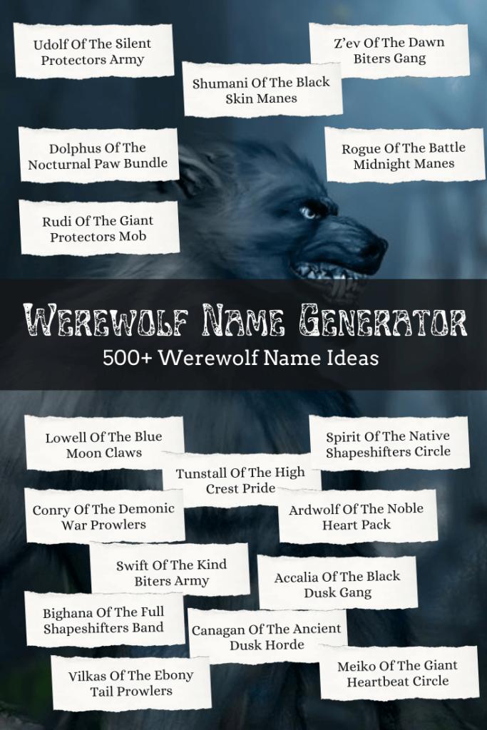 Werewolf Name Generator