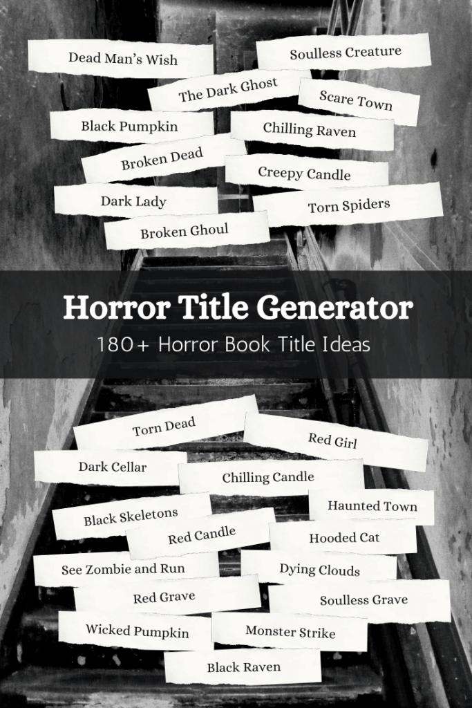 Horror Book Title Ideas